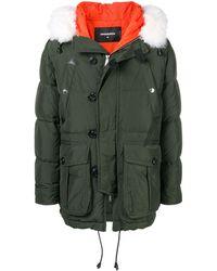 DSquared² Shell puffer coat - Grün