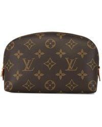 Louis Vuitton Pre-owned Pochette Make-up Tas - Bruin