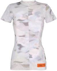 Heron Preston Camouflage Print Mesh T-shirt - Gray