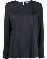 Brunello Cucinelli Блузка С Круглым Вырезом - Синий