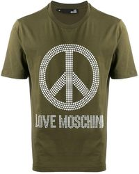Love Moschino - Peace And Love Tシャツ - Lyst