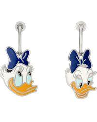 Gucci Boucles d'oreilles Daisy Duck - Métallisé