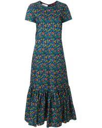 LaDoubleJ フローラル ドレス - ブルー