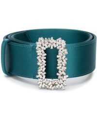Alexandre Vauthier Oversized Buckle Belt - Blue