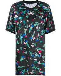 adidas フローラル Tシャツドレス - マルチカラー
