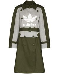 adidas X Dry Clean Only ロゴ トレンチコート - グリーン