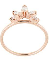 Natalie Marie Anillo en oro rosa de 14kt y diamantes - Metálico
