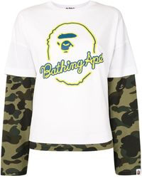 A Bathing Ape Layered Camouflage T-shirt - Multicolour