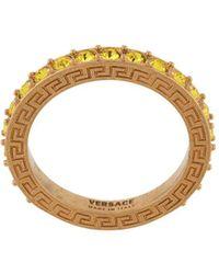 Versace Декорированное Кольцо С Логотипом - Металлик