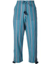 Figue - Fiore Striped Cropped Trousers - Lyst