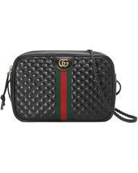 Gucci - Small Quilted Leather Shoulder Bag - Lyst