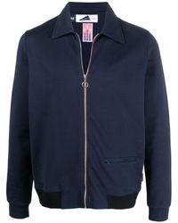 Anglozine ジップアップ シャツジャケット - ブルー