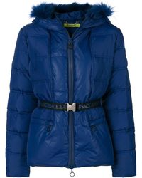 Versace Jeans Padded Hooded Jacket - Blauw