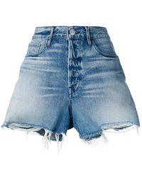 3x1 - Frayed Edges Denim Shorts - Lyst