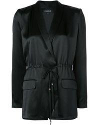 Cushnie Satin drawstring blazer - Noir