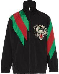 Gucci Спортивная Куртка С Вышивкой - Черный