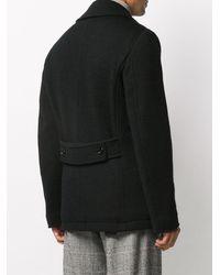 Dolce & Gabbana ロゴ ダブルコート - ブラック