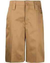 Prada Tailored Knee Length Shorts - Brown