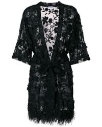 Ainea - Embellished Belted Cardigan - Lyst