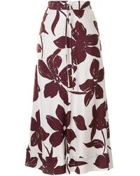 Lee Mathews Sakura Floral-print Maxi Skirt - White