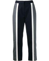 KENZO Flared Cropped Trousers - Синий