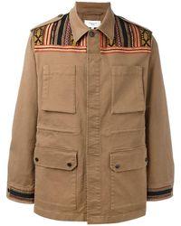 Fashion Clinic マルチストラップ ライトジャケット - ブラウン