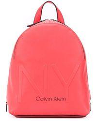 Calvin Klein Rugtas Met Logo - Roze
