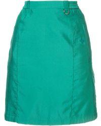 Dior ストレート ミニスカート - グリーン