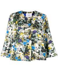 Erdem - Floral Cropped Jacket - Lyst