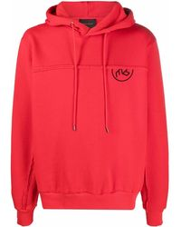 A BETTER MISTAKE Glitch Graphic-print Hoodie - Red