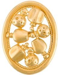 Dior Broche Met Ronde Flessen - Metallic