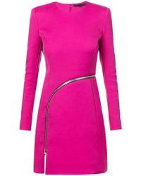 Alexander Wang - Zipper Short Dress - Lyst