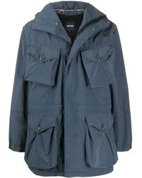 Aspesi Hooded Cargo Jacket - Blue
