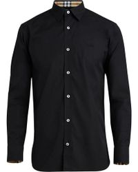 Burberry - Stretch Cotton Poplin Shirt - Lyst