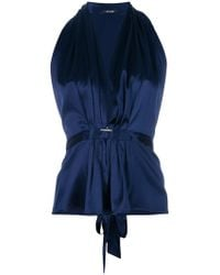 Styland - Deep V-neck Ruched Top - Lyst