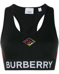 Burberry ロゴプリント スポーツブラ - ブラック