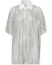 Burberry ビジューメッシュ ポロシャツ - メタリック
