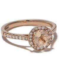 Astley Clarke Halo Tearoom モルガナイト&ダイヤモンド リング 14kローズゴールド - マルチカラー