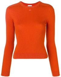 Courreges - Rib Knit Fitted Sweater - Lyst