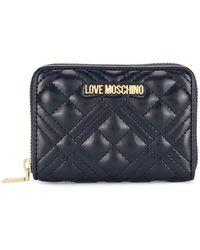 Love Moschino ファスナー財布 - ブルー