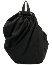 Yohji Yamamoto - Drawstring Draped Backpack - Lyst 8c8ed6ad7f