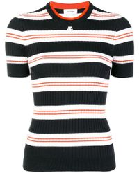 Courreges - Striped Rib Knit Top - Lyst