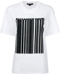 Alexander Wang Barcode Logo Printed T-shirt - White