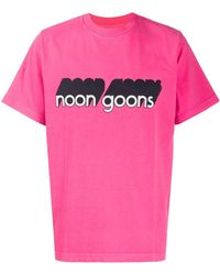 Noon Goons ロゴ Tシャツ - ピンク