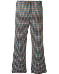 AALTO Flared Cropped Trousers - Синий