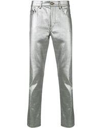 Saint Laurent - Metallic Slim Fit Jeans - Lyst