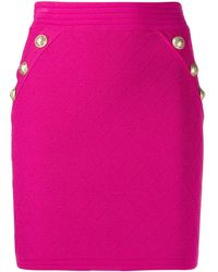 Balmain キルティング ミニスカート - ピンク