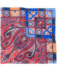 Etro Foulard imprimé en soie - Rouge
