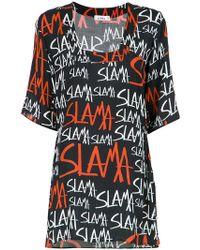 Amir Slama - Logo Print Shift Dress - Lyst