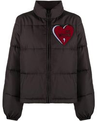 Love Moschino Куртка-пуховик С Логотипом - Черный